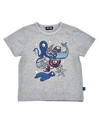 T-Shirt SS Sea Light Grey Melange