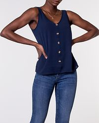 Sasha Button Top Navy Blazer