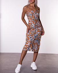 Fallon Frill Strap Printed Dress