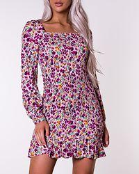 Tone Smock Dress Flower Print