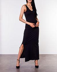 July Long V-Neck Dress Black