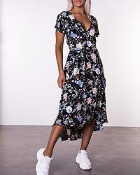 Melanie Floral Printed Wrap Front Dress