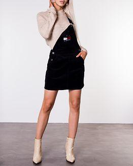 Dungaree Dress Black