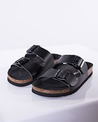 Nicoline Leather Sandal Black