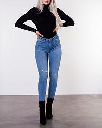 Karol Roll Neck Pullover Black