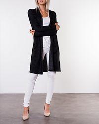 New Maye Knit Cardigan Dark Grey Melange/White Melange
