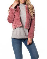 Evan Short Fake Fur Jacket Nostalgia Rose