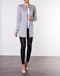 Louisa Ruby Spring Coat Light Grey Melange