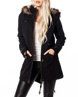 Allure Twill Parka Coat Black