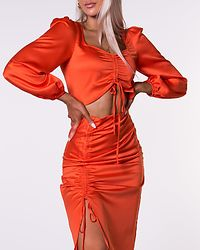 Cropped Blouse Red/Orange