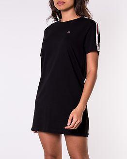 Tape Detail Short Dress Black