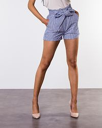 Smilla Stripe Belt Shorts Medium Blue/Stripes