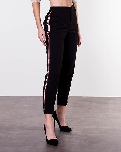 Iza Solid Ankle Pant Black Cloud Dancer 3a8a63c05c