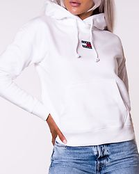 TJW Tommy Center Badge Hoodie White