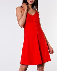 Adrianne Singlet Short Dress Fiery Red