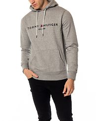 Tommy Logo Hoody Cloud Heather