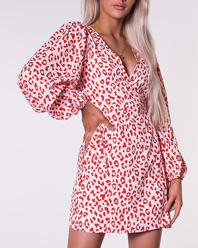 AX Paris Leopard Print Wrap Dress Brown Leo Bubbleroom
