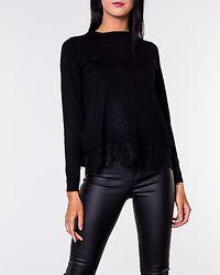 Cilla Lace Mix  Pullover Black