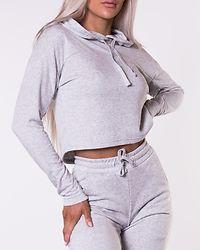 Deactivate Cropped Hoodie Grey Melange