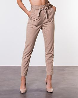 Disa Trousers Beige/White/Striped