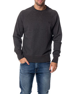 Loopback Crew Sweat Graphite Marl