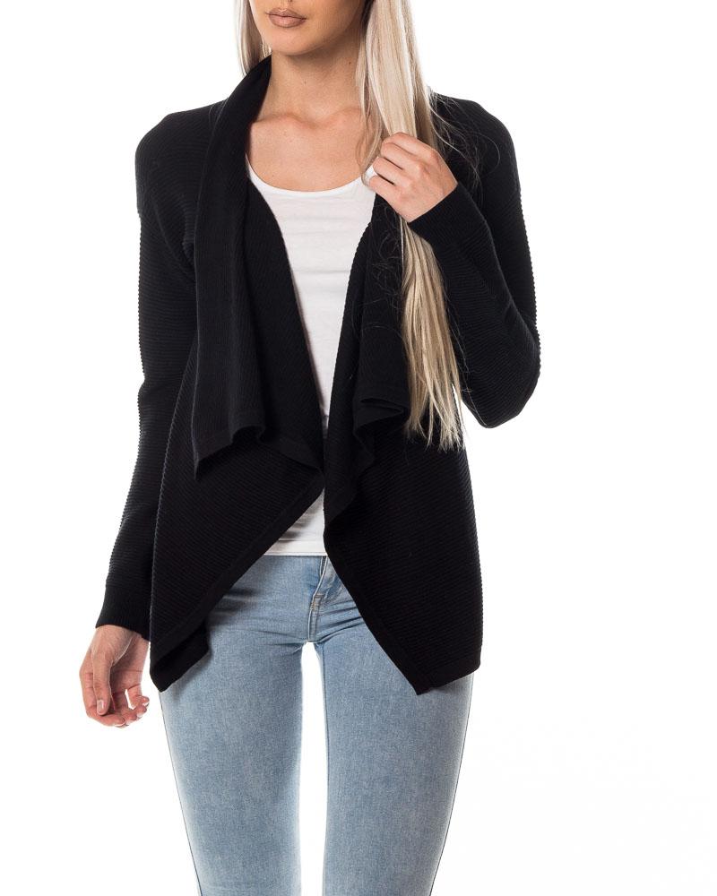 Vero Moda, Anna LS Wrap Cardigan Black | Knitwear | HOUSEOFBRANDON.COM