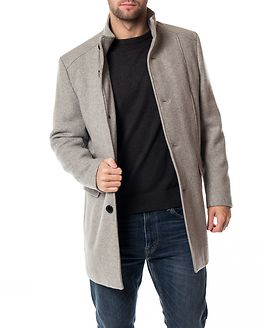 Mosto Wool Coat Light Grey Melange