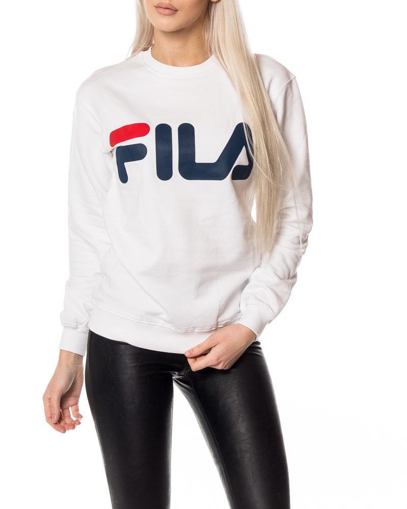Fila, Classic Logo Sweater Bright White | Women's Sweatshirts ...