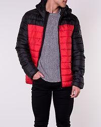 Steven Quilted Hood Jacket Aura Orange/Colourblock