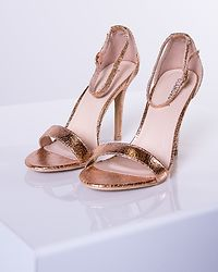 Shine Strap Stilettos Rose Gold