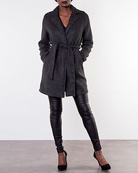 Nina Brushed Jacket Dark Grey Melange