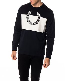 Blocked Laurel Wreath T-Shirt Navy