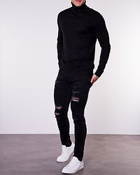 Emil Knit Roll Neck Black