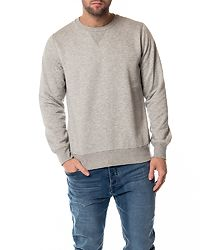 Jones Crew Neck Sweatshirt Light Grey Marl