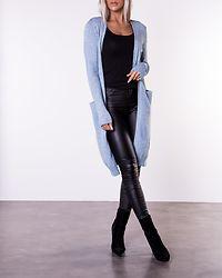 Ril Long Knit Cardigan Ashley Blue/Melange