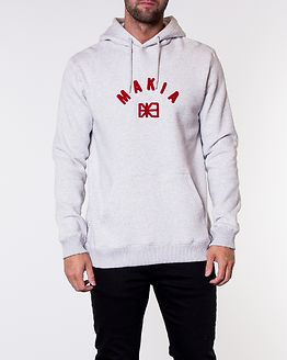 Brand Hooded Sweatshirt Light Grey