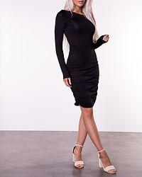 Next O-Neck Short Dress Black