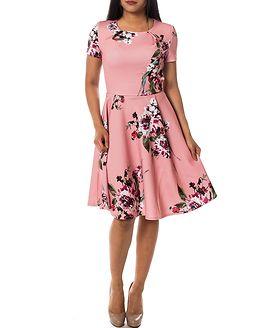 Birdo Cap Sleeve Dress Bridal Rose