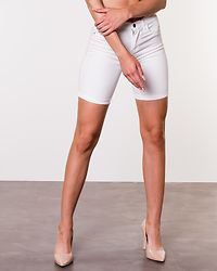 Rain Mid Long Shorts White