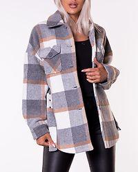Selma Overshirt Jacket Whitecap Gray/Grey/Natural