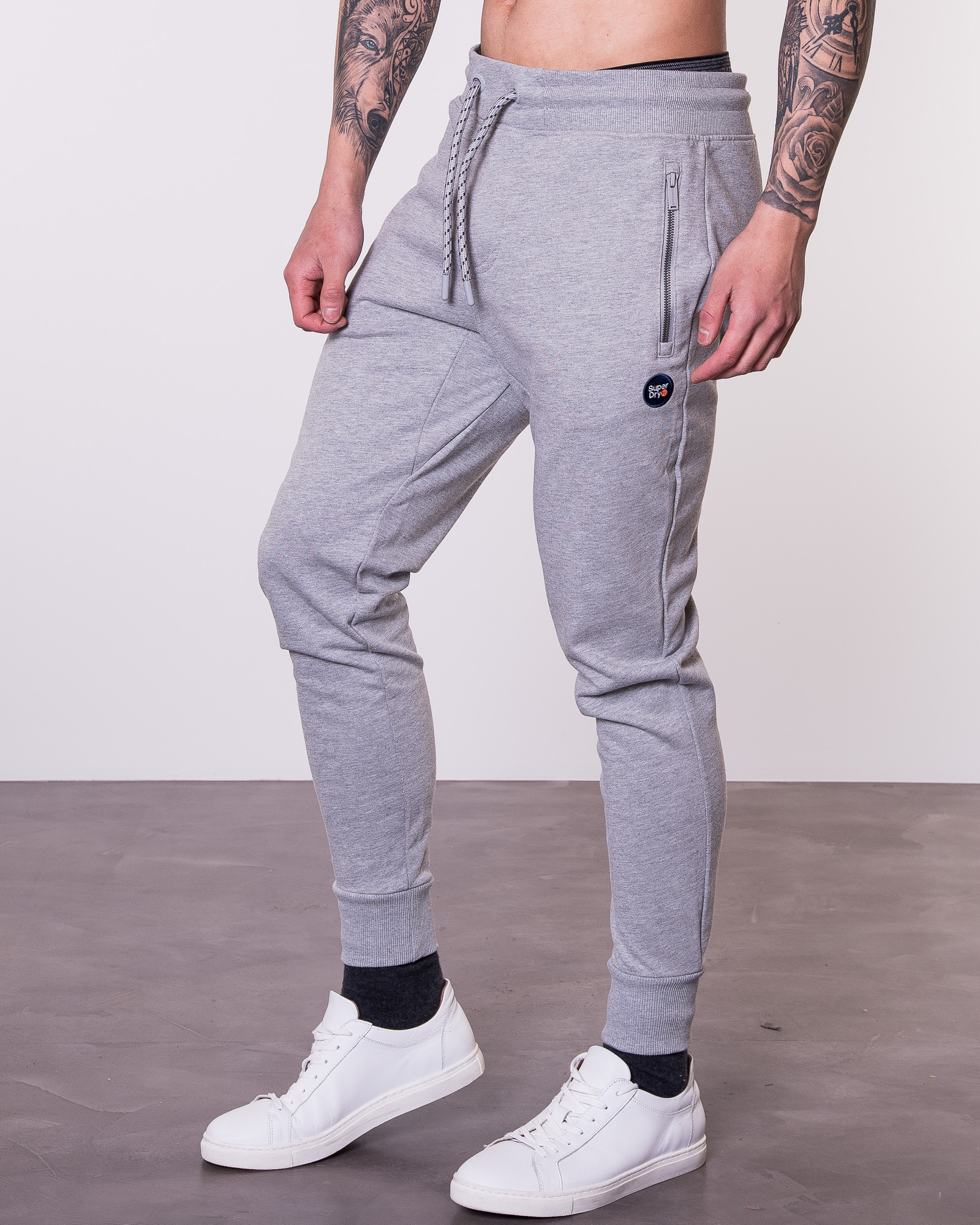 Superdry Men/'s Collective Joggers Grey