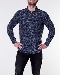 Slim New Mark Shirt Dark Sapphire/AOP