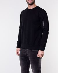 Jacob Crew Neck Sweatshirt Black