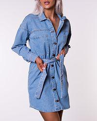 Domino Belt Dress Light Blue Denim