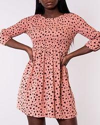 Peach Ditsy Floral Dress