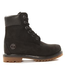 6 Inch Premium Black Suede Boot