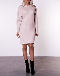 Olivinja Knit High Neck Dress Natural Melange