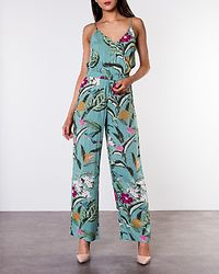 Simply Easy Strap Jumpsuit Wasabi/Tropicana