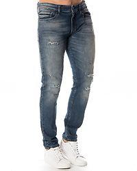 Skinny Velvet Jeans Washed Blue