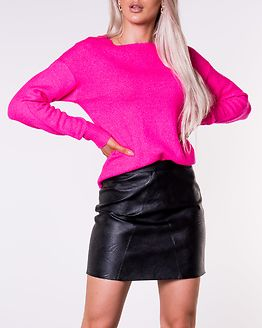 Favorite Pullover Denim Knit Neon Pink